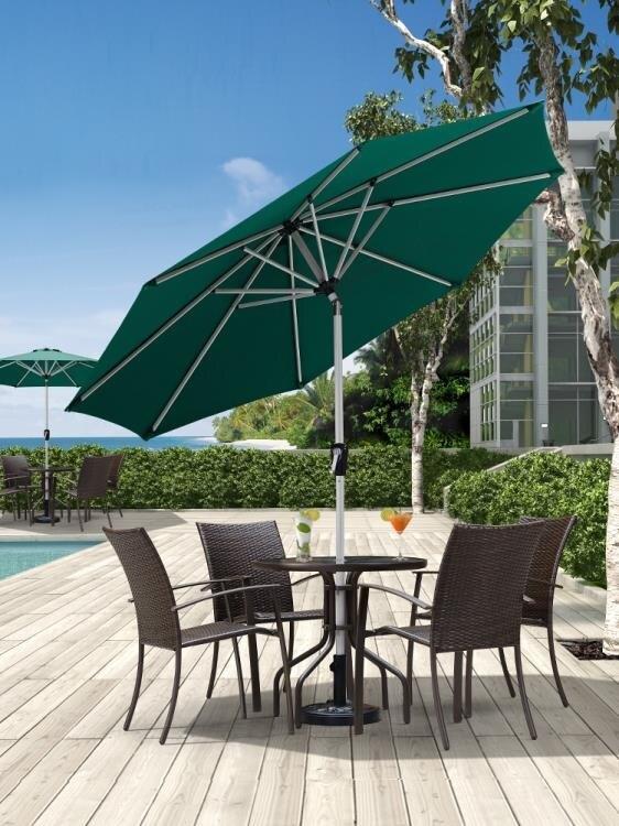 紫葉陽臺傘中柱傘戶外遮陽傘花園太陽傘戶外傘庭院傘咖啡廳奶茶店 樂樂百貨