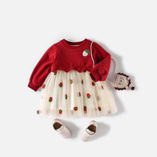 女寶寶周歲禮服公主裙春秋衣服1一3歲嬰兒秋裝連衣裙女童加絨裙子 童趣潮品
