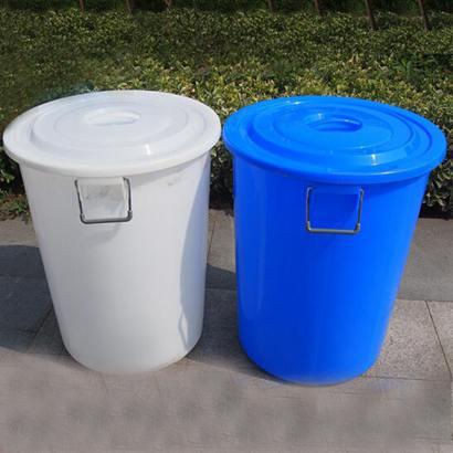 大號酒店廚房圓形垃圾桶工業物業環衛商用塑膠桶水桶160L280L有蓋全館促銷限時折扣