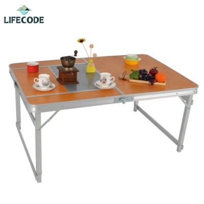 LIFECODE 加寬鋁合金BBQ折疊桌/燒烤桌120x80cm