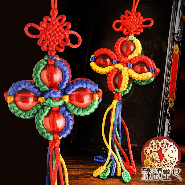 收緣結果 西藏五色繩十字金剛杵平安掛件 含開光 台灣閭仙派開光 臻觀璽世 IS4709