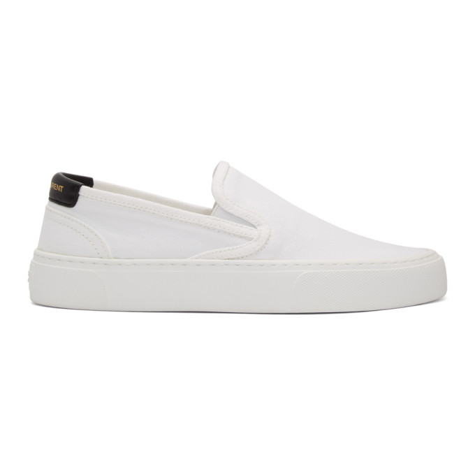 Saint Laurent 白色 Venice 无带运动鞋