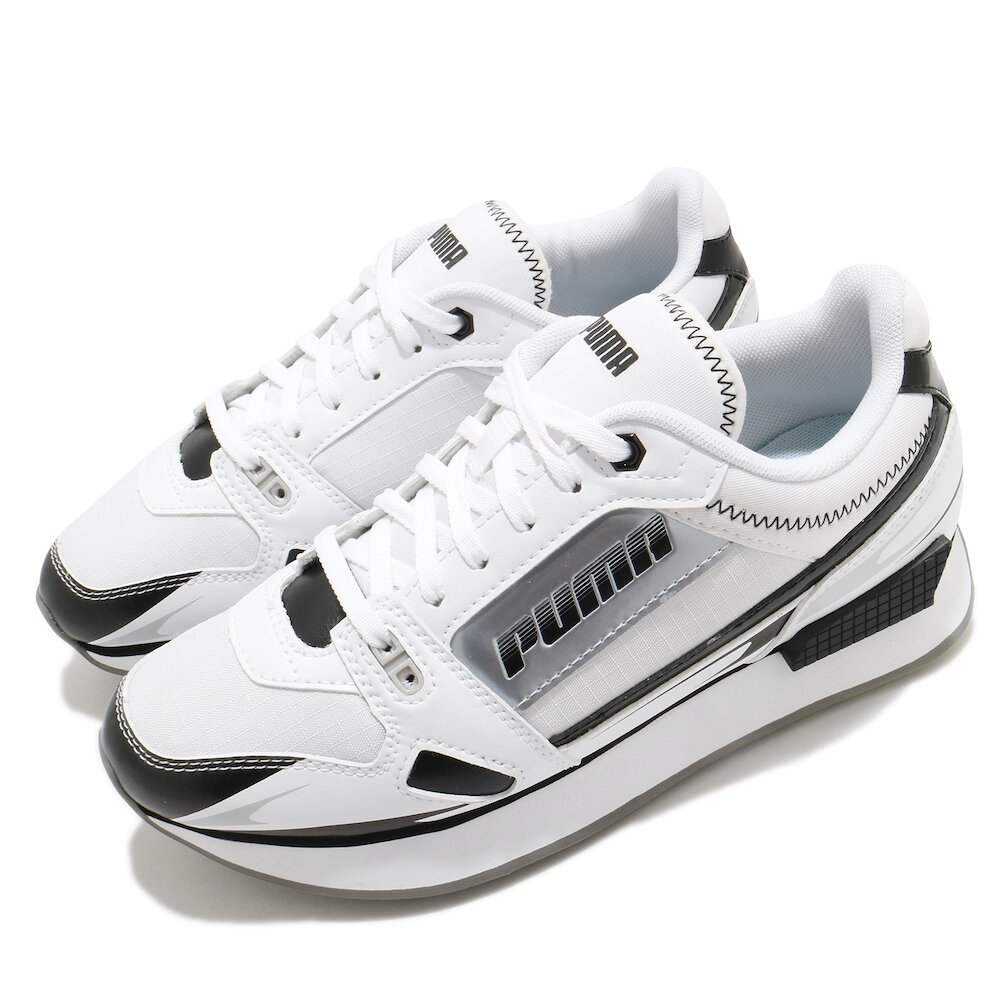 PUMA 休閒鞋 Mile Rider 運動 女鞋 基本款 舒適 簡約 球鞋 穿搭 白 黑 [37344305]