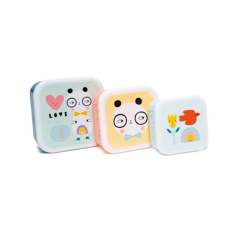 零食盒3入組-我愛熊貓
