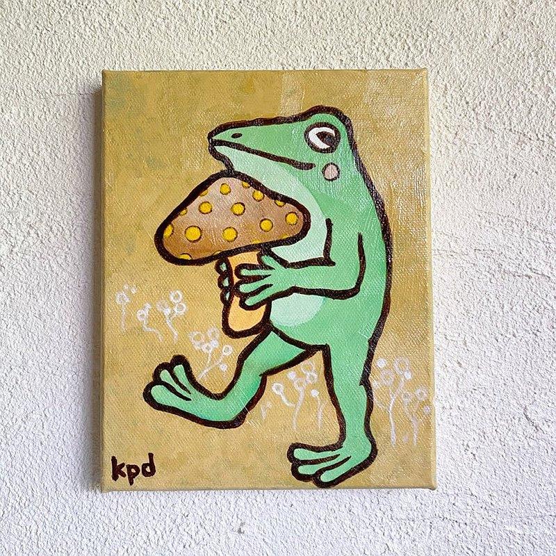 藍蛙迷你帆布藝術