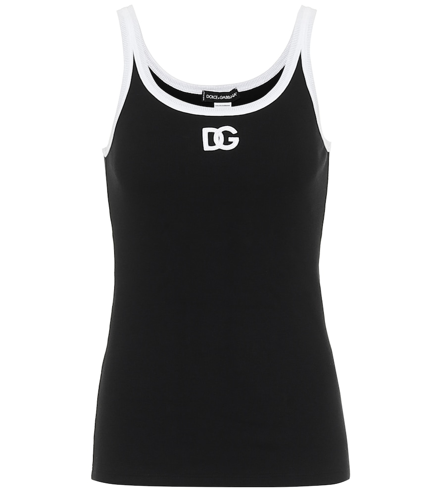 Stretch-cotton jersey tank top