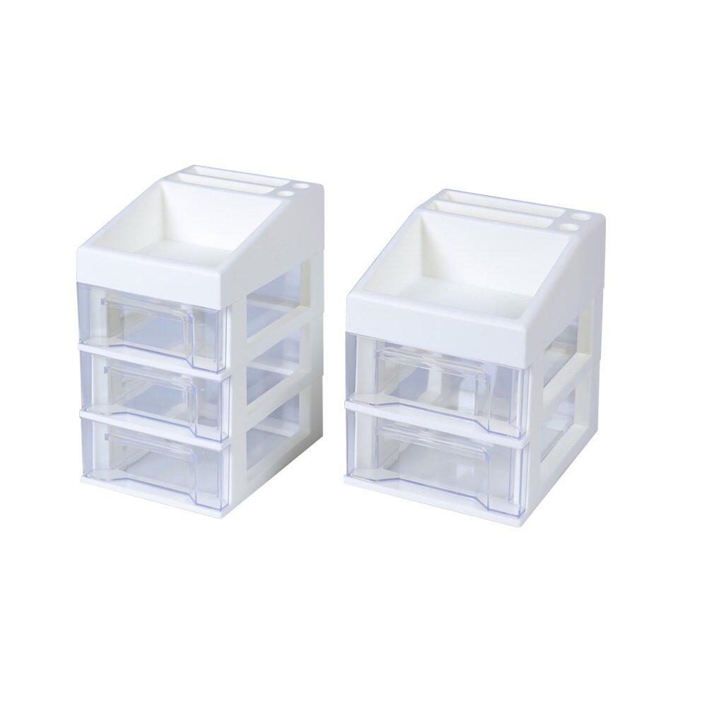 《真心良品》日系簡約便利組桌上型抽屜收納盒-2入組