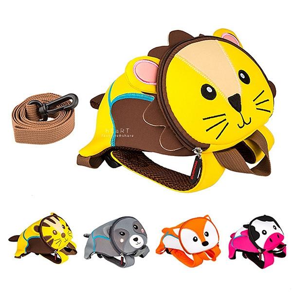 可愛動物防走失牽繩背包 背包 後背包 牽繩包