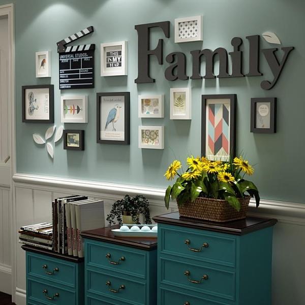 沙發背景照片墻掛墻相框墻 一木良品