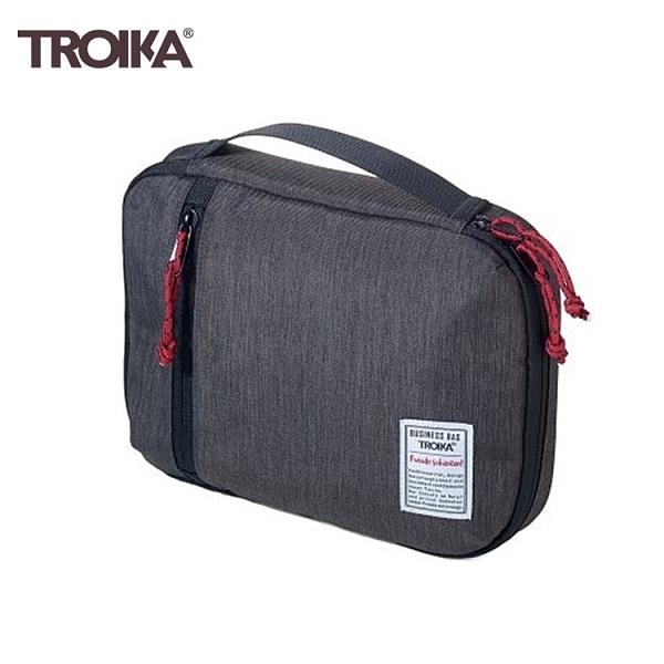 又敗家@德國TROIKA商務品味科技包BBG54/GY(防水19x26公分)3C電子產品收納包商務包充電線收納袋