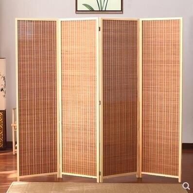 樂天優選 現代簡約推拉折疊移動日式客廳臥室簡易實木玄關竹編屏風隔斷折屏