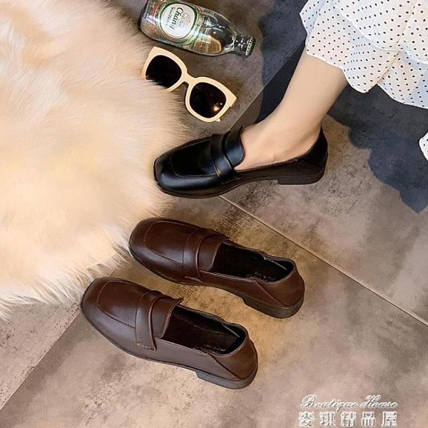 小皮鞋 網紅單鞋女春季新款英倫風百搭復古小皮鞋女學生方頭樂福女鞋 麥琪精品屋