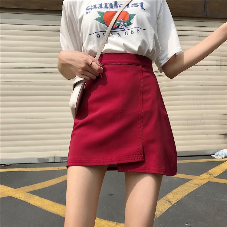 新款韓版顯瘦小個子高腰百搭a字半身裙