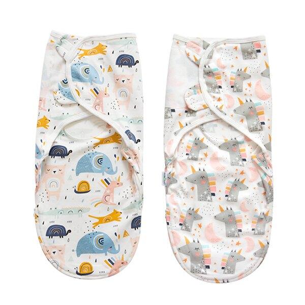 嬰兒包巾 懶人包巾 拉鍊升級款-可調式簡易包巾-JoyBaby