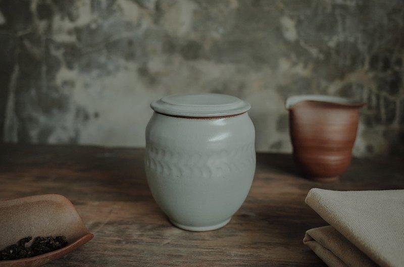茶倉 l 煙青系列 小葉紋 茶葉罐/茶倉