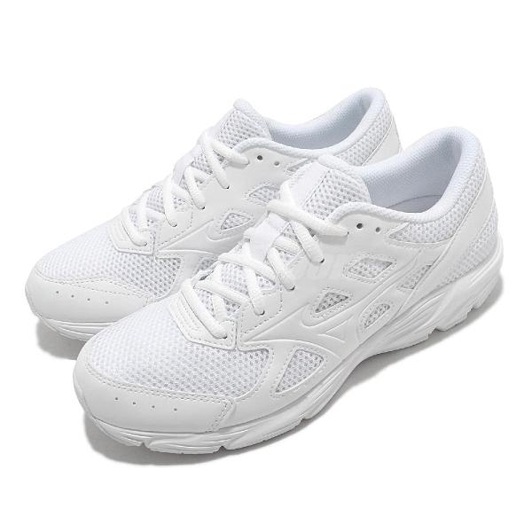 Mizuno 慢跑鞋 Maximizer 23 Wide 寬楦頭 白 全白 男鞋 女鞋 網布 透氣輕量 運動鞋【ACS】 K1GA2102-01