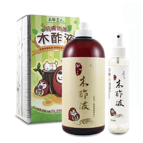 木酢達人 精餾木酢液原液500ml 附噴霧瓶150mlx1 肌膚清潔用