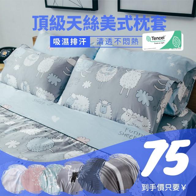 【夢之語】頂級天絲 天絲枕頭套 美式枕套 信封式枕套 裸睡首選TENCEL