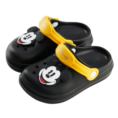 迪士尼童鞋 米奇 洞洞防水布希童鞋-黑(柏睿鞋業)