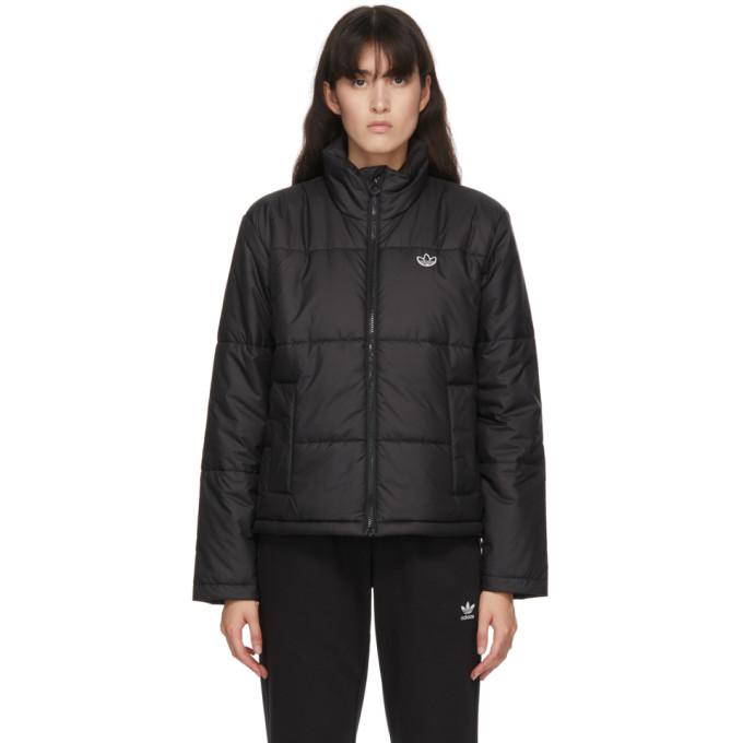 adidas Originals 黑色短款填充夹克