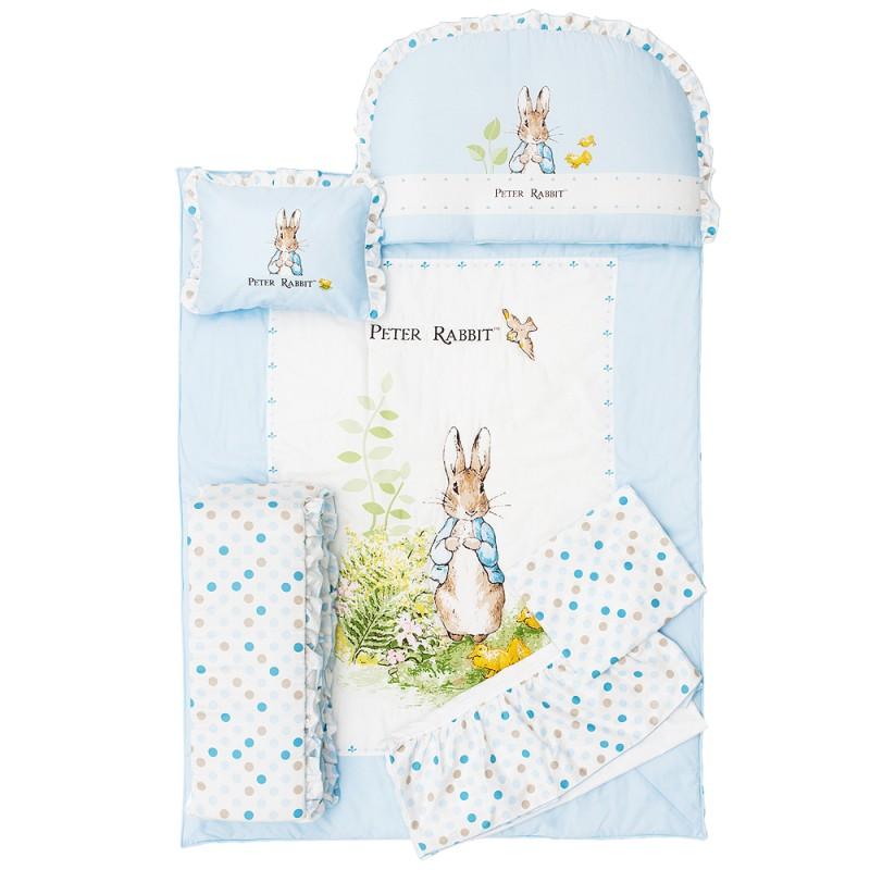 【奇哥】花園比得兔六件床組L-藍