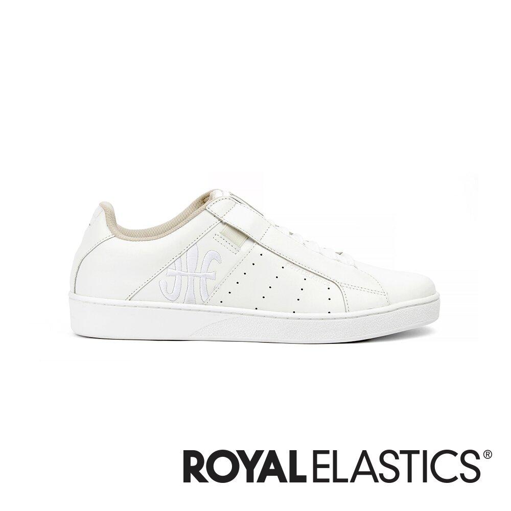Royal Elastics Icon Genesis 經典白真皮運動休閒鞋 (男) 01994-000