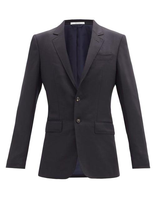 Gabriela Hearst - Irving Single-breasted Wool Blazer - Mens - Navy
