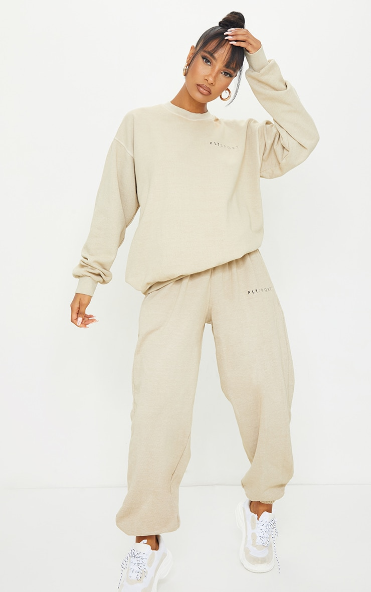 Sand Washed Oversized Track Pants
