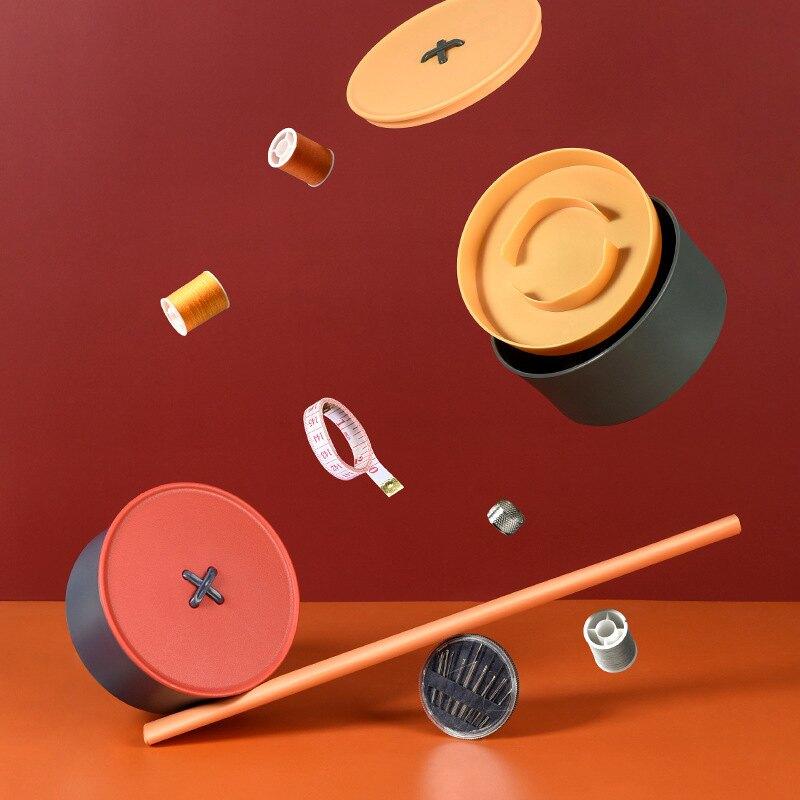 台灣現貨 針線盒 針線包 家用鈕扣針線工具盒 工具包 針線收納盒 縫補工具 縫補套裝 針線套裝 針線工具材料