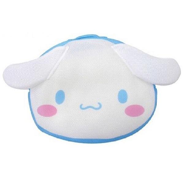 小禮堂 大耳狗 造型手提網狀洗衣袋 洗衣網袋 護洗袋 手提網袋 (藍白 大臉) 4990270-12822