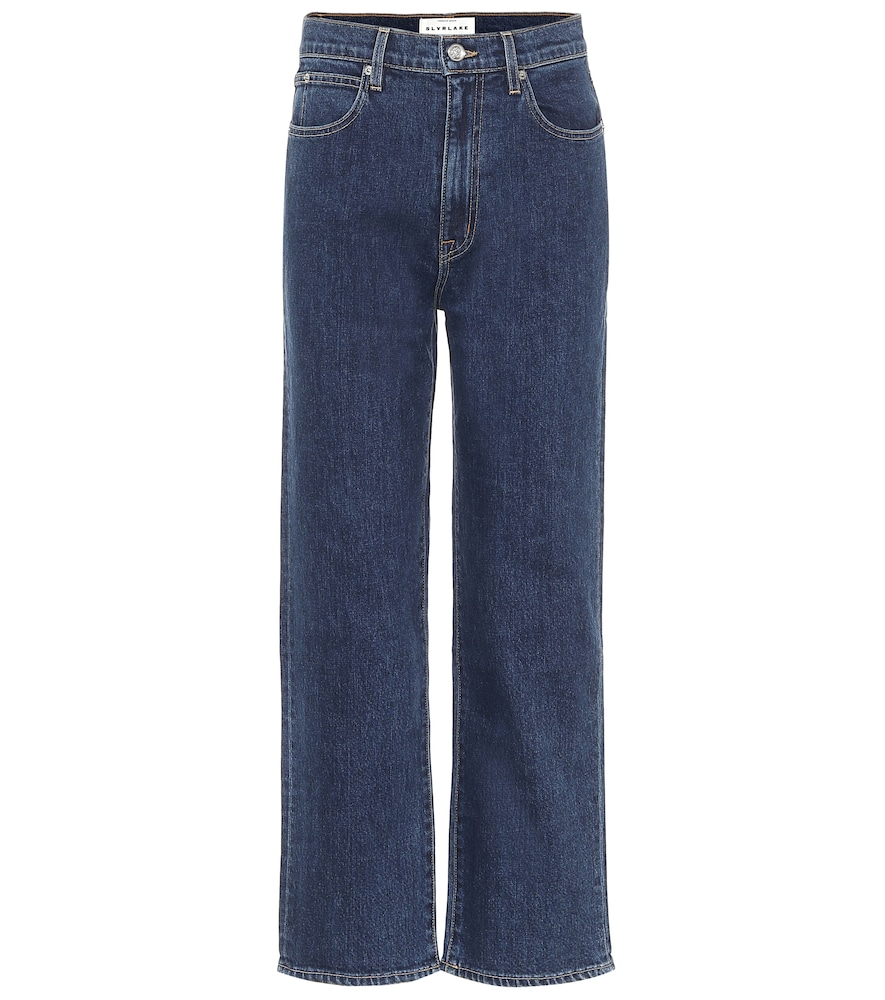 London high-rise cropped jeans