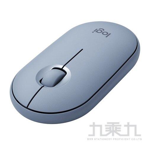 羅技M350鵝卵石無線滑鼠-天空藍