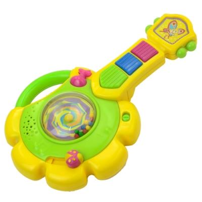 《小小音樂家》太陽花造型兒童成長益智音樂聲響樂器玩具-吉他造型