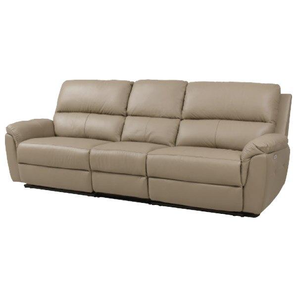 ◎半皮4人用電動可躺式沙發 N-BEAZEL MO NITORI宜得利家居