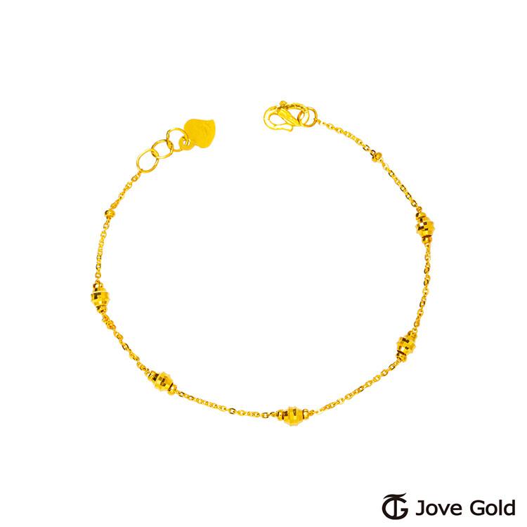 jove gold 漾金飾 舞動的心黃金手鍊
