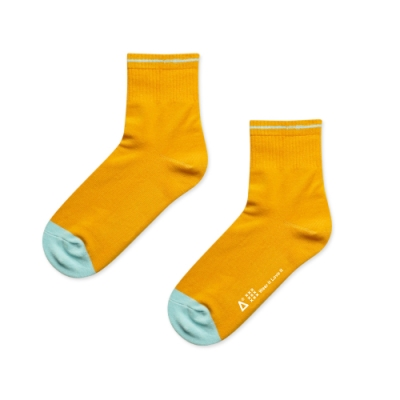 WARX除臭襪 日本和色薄款中筒襪-山吹茶