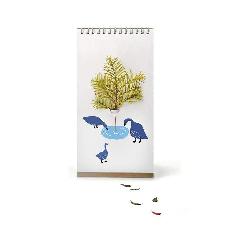 翻頁花器 - 彩色可愛動物