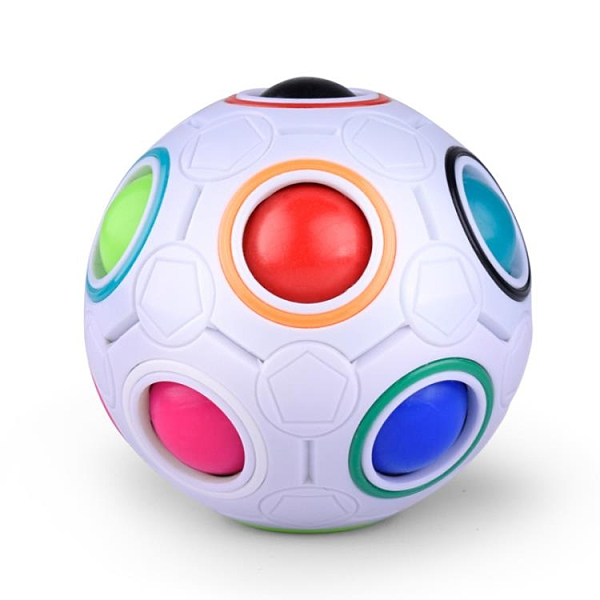益智玩具智力兒童減壓魔方初學者手指足球寶寶【福喜行】