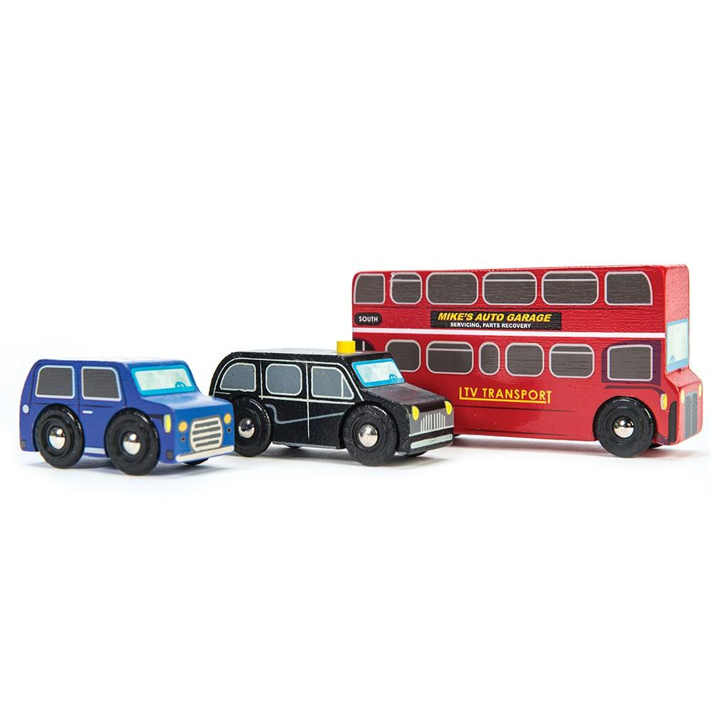 英國 Le Toy Van 小小工程師系列-倫敦市區交通工具玩具組 (經典3入)【hughugbaby抱抱寶貝】