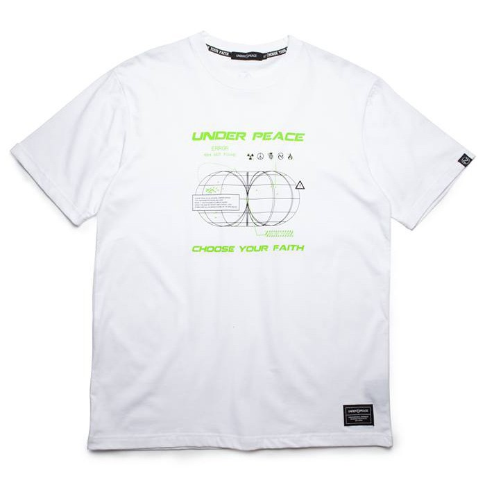Under peace - 19AW ERROR / TEE 斷訊 短T (白色) 化學原宿