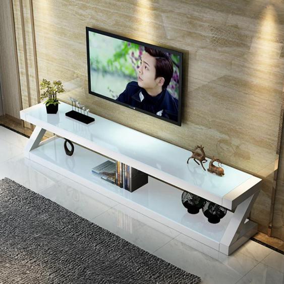 電視櫃電視桌 鋼化玻璃電視櫃茶几組合套裝小戶型客廳簡易現代簡約電視機櫃迷你