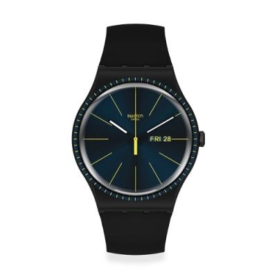 Swatch New Gent 原創系列手錶 BLACK RAILS -41mm