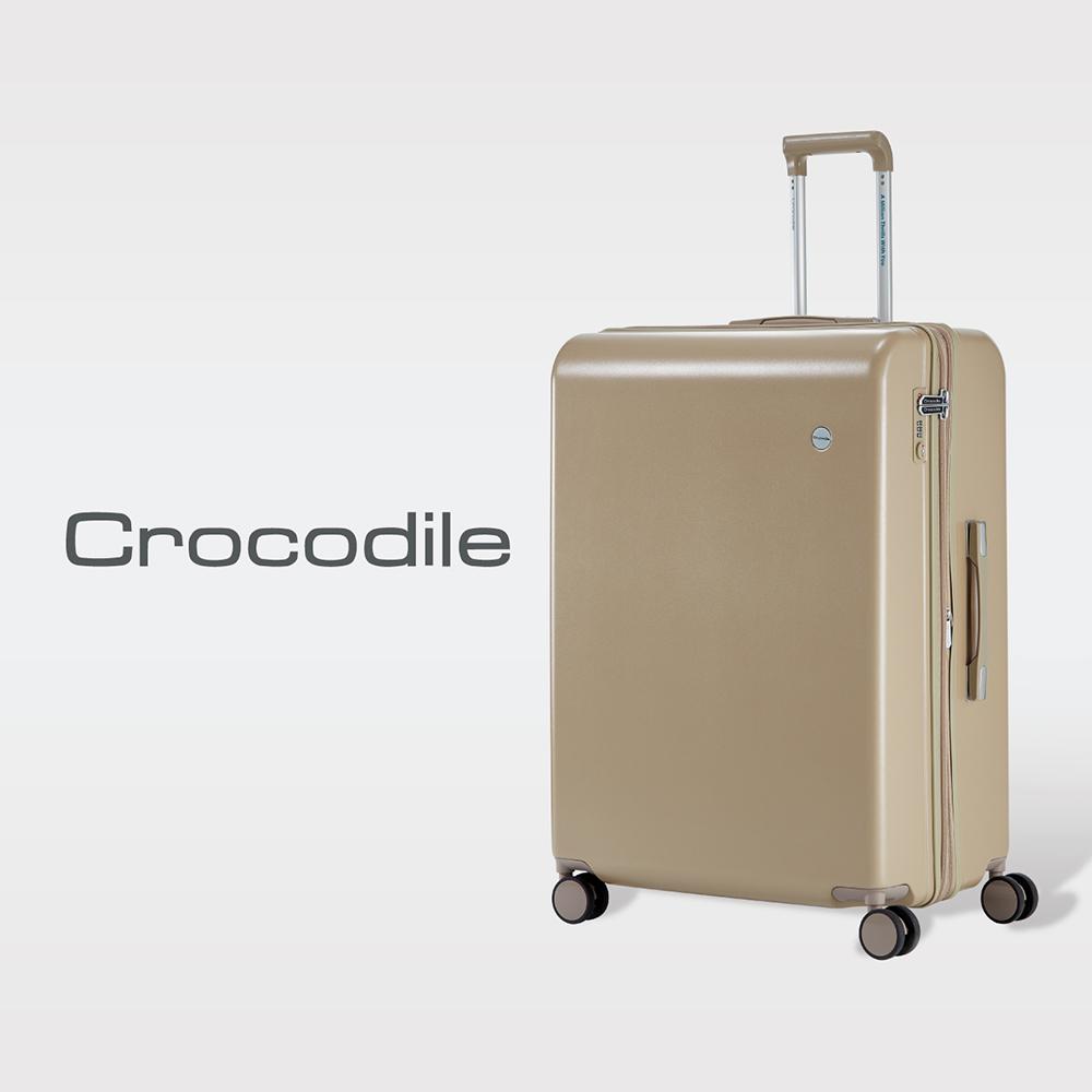 【Crocodile】Crocodile 霧面拉鍊箱含TSA鎖-24吋-0111-07228