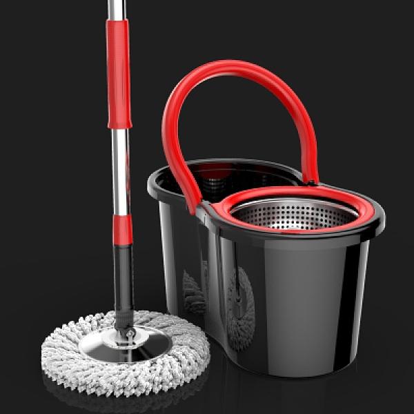 旋轉拖把雙驅動家用 免手洗拖布桶自動甩干墩布 旋轉拖把 向日葵