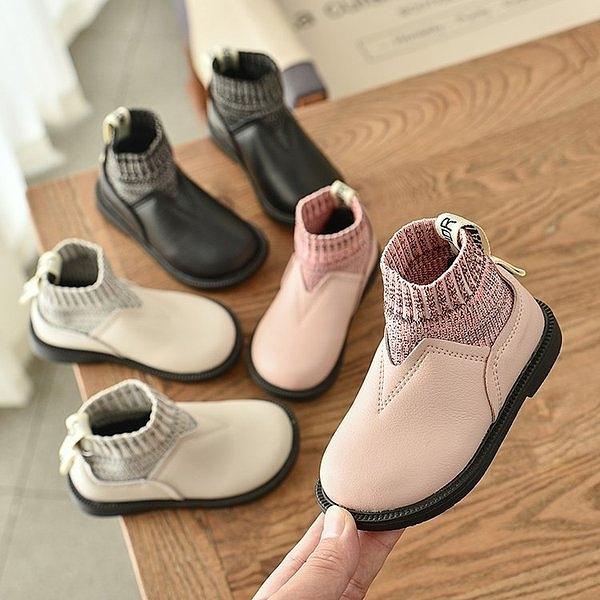 兒童皮靴2020秋冬新款韓版女童公主棉靴時尚單靴寶寶加絨短靴皮鞋