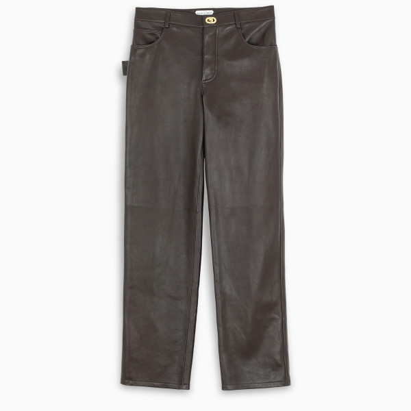 Bottega Veneta Brown leather trousers
