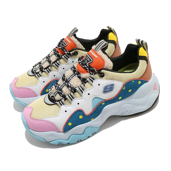 Skechers 休閒鞋 D Lites 3.0-Planet BT21 彩色 女鞋 宇宙明星 聯名款 運動鞋 老爹鞋 【ACS】 13386MULT