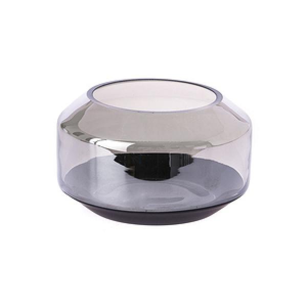 HOLA 柏特水泥感玻璃花器 銀黑 9cm
