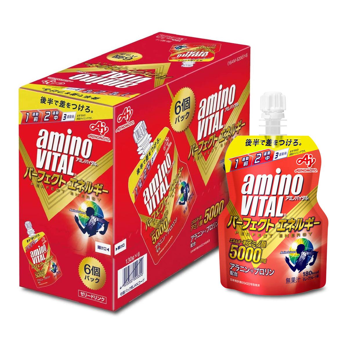 [日本 aminoVITAL] 胺基酸能量凍 (130gx6包/盒) (蛋奶素)