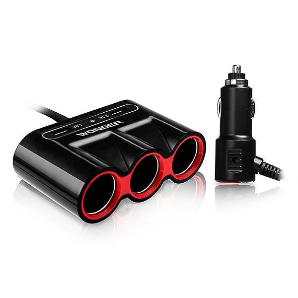 WONDER旺德 車用USB點煙器擴充座 WA-V04E3【福利品九成新】